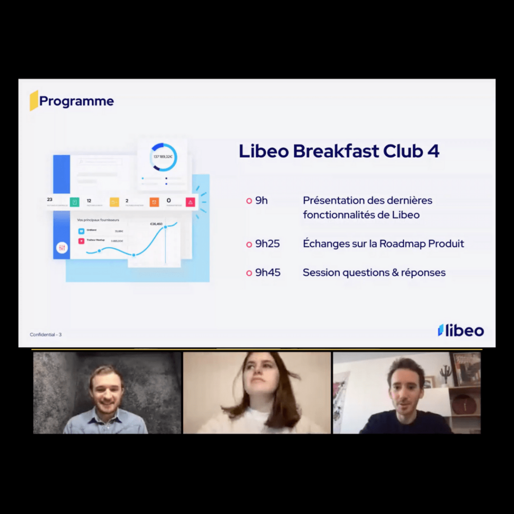 Libeo product manager roadmap produit collaborative breakfast club